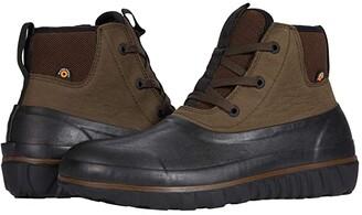 Bogs Casual Lace Leather (Black) Men's Boots