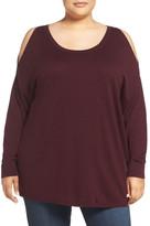 Sejour Cold Shoulder Pullover (Plus Size)