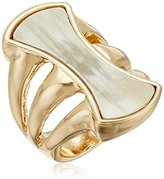 "Robert Lee Morris Neutral Territory"" Sculptural Horn Multi-Row Ring, Size 7.5"