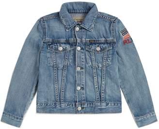 Polo Ralph Lauren Denim Varsity Patch Jacket