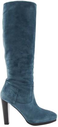 Hermes \N Blue Suede Boots