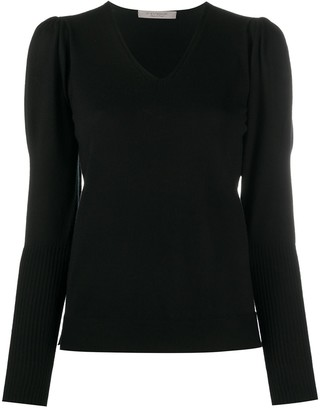 D-Exterior Ribbed Detail Jumper