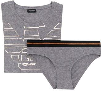 Emporio Armani branded T-shirt and brief set