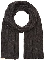 Tom Tailor Men's nep ribbed scarf Scarf, Grey (black grey melange)