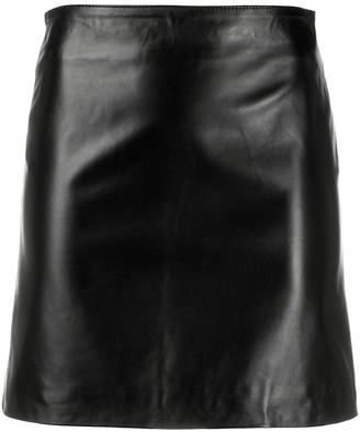 Manokhi Short Leather Skirt