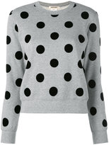 Comme des Garcons polka dot sweater - women - Cotton/Nylon - S