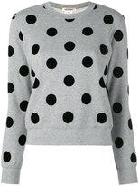 Comme des Garcons polka dot sweater - women - Cotton/Nylon - XS