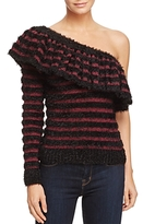 WAYF One-Shoulder Striped Sweater - 100% Exclusive
