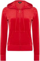 Juicy Couture Velour Robertson Hooded Zip Up Tracksuit Hoodie