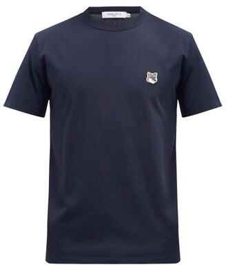 MAISON KITSUNÉ Fox Head-patch Cotton-jersey T-shirt - Navy