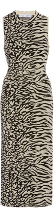 Proenza Schouler White Label Zebra-Print Knit Dress