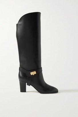 Givenchy Eden Leather Knee Boots - Black