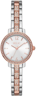 Relic by Fossil Women's Reagan Crystal Accent Two Tone Watch - ZR34607