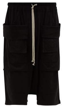 Rick Owens Creatch Cotton Cargo Shorts - Mens - Black