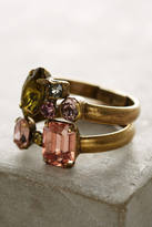 Anthropologie Wrapped Crystal Ring Set