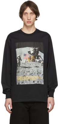 Calvin Klein Jeans Est. 1978 Black Moon Landings Long Sleeve T-Shirt