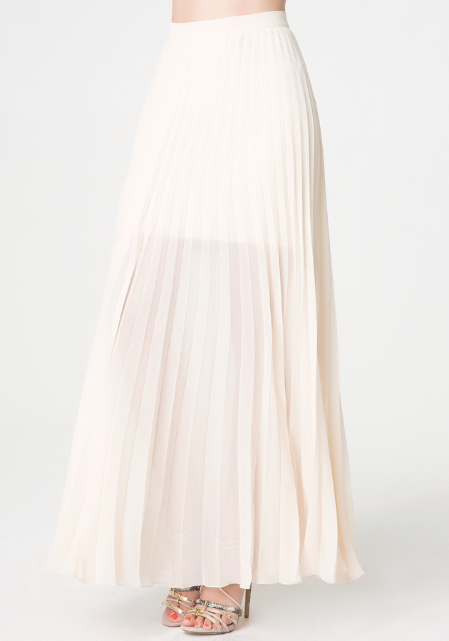 Bebe Pleated Long Skirt