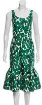 Carolina Herrera 2017 Brushstroke Midi Dress