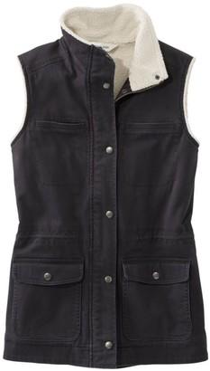 L.L. Bean L.L.Bean Women's Classic Utility Vest, Sherpa-Lined
