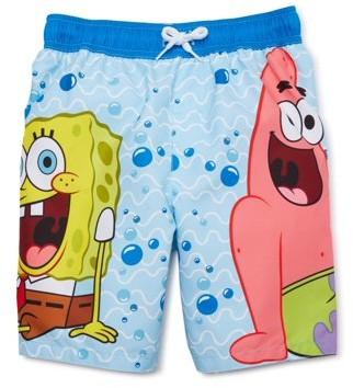 SpongeBob Squarepants Boys 4-7 Swim Trunks