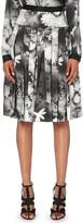 Christopher Kane Digital floral-print silk-blend skirt