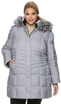 ZeroXposur Plus Size Angelica Hooded Shimmer Quilted Jacket