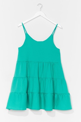 Nasty Gal Womens Just Swing It Tiered Mini Dress - Bright Green