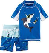 Carter's 2-Pc. Shark Rash Guard & Swim Trunks Swim Set, Little Boys & Big Boys