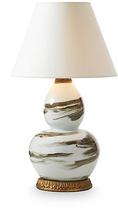Bunny Williams Home Brushstroke Table Lamp - Brown/White