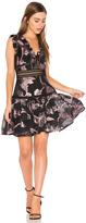 Rebecca Taylor Sleeveless Metallic Dress