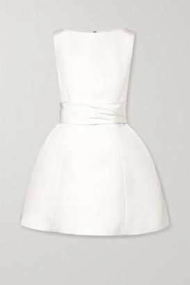 Brandon Maxwell Silk-faille Mini Dress - Ivory