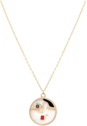L'Atelier Nawbar Face It 18K Yellow Gold Multi-Stone Necklace