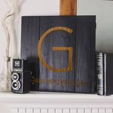 Cathy's Concepts Cathys concepts Personalized Black Rustic Wood Wall Art
