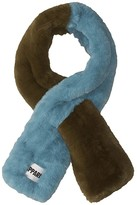 Apparis Roxanne Two-Tone Faux Fur Scarf (Army Green/Sapphire Blue) Scarves