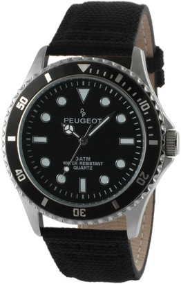 Peugeot Men's Sport Watch with Canvas Band