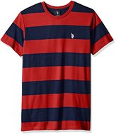U.S. Polo Assn. Men's Rugby Stripe Crew Neck T-Shirt