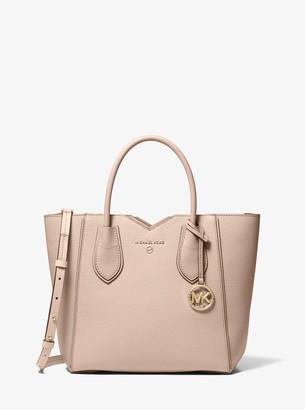MICHAEL Michael Kors Mae Medium Pebbled Leather Messenger Bag