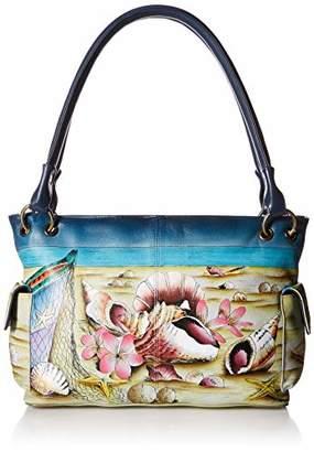 Anuschka Anna by Women's Genuine Leather Small Shoulder Bag | Hand Painted Original Artwork |
