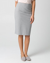 Le Château Crosshatch Viscose Blend Pencil Skirt