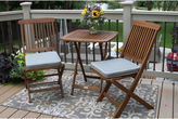 OUTDOOR INTERIORS Outdoor Interiors 3pc. Square Bistro Set with GreyCushions