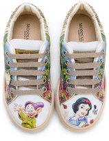 MonnaLisa white snow print sneakers