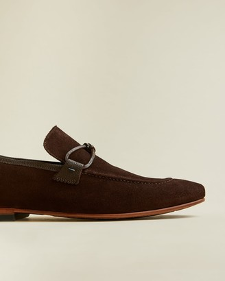 Ted Baker Suede Loafers With Knot Detail