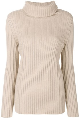 Lamberto Losani Ribbed Roll-Neck Jumper