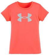 Under Armour Girls 2-6x Glitter Logo Tee