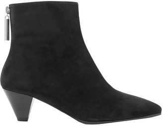 Stuart Weitzman Pyramid Suede Ankle Boots