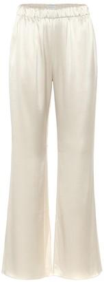 Deveaux High-rise straight satin pants