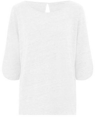 Les 100 Ciels Kat Linen Top White