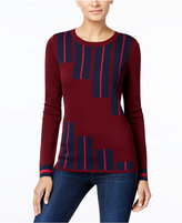INC International Concepts Striped Pullover Sweater, Only at Macy's