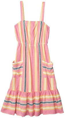 BB Dakota Yarn-Dyed Linen Stripe Dress (Pink Lemonade) Women's Dress