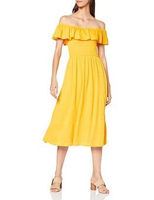 Tom Tailor Women's 1009470 Dress, (Golden Yellow 17278), M